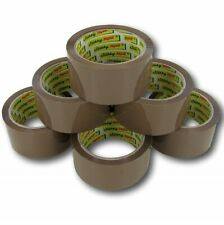 BROWN BUFF TAPE PARCEL PACKING PACKAGING SELLOTAPE BOX SEALING 48MM x 66M STRONG