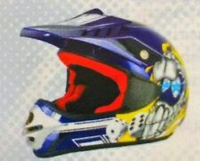 CASCO BAMBINO JUNIOR MOTO CROSS S-LINE VIPER S880 ENDURO QUAD ATV- Blue-