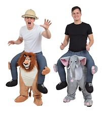 AFRICAN ANIMALS LION ELEPHANT PIGGY BACK ONE SIZE OUTFITS #FANCY DRESS