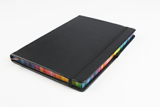 Black Leather Journal / Writing Notebook / Blank Diary / Lined Pages Book - 8.3