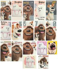 SECRET LIFE OF PETS GIDGET, NORMAN OR MEL DIE CUT BIRTHDAY  CARD 1STP&P
