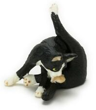 Dollhouse Miniature Black & White Tuxedo Resin Cat by Falcon Miniatures