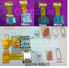 Hybrid SIM Slot Phone Double sim Extension,2 Nano SIM And SD card(in stock)
