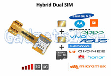 Hybrid Dual Double Sim Card Adapter, Nano to nano /micro Sim Adapter