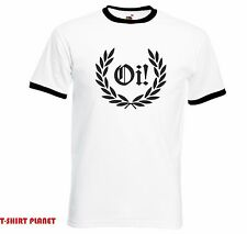 Oi Laurel Ringer T-shirt - Punk Rock, Skinhead, All Sizes free delivery