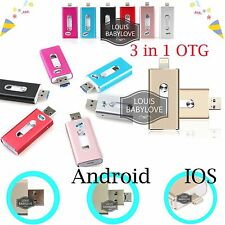 3 IN 1 i-Flash Drive OTG Device Flash USB Memory Stick For IOS Android iPad PC
