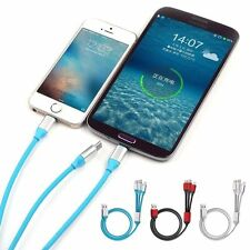 USB Cable Charger 1.2M Strong 3 in1 with Micro Type-C Lightning iPhone & Android