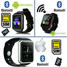 SMARTWATCH IOS IPHONE / ANDROID SAMSUNG SMART WATCH BLUETOOTH SIM CARD SD CAMERA