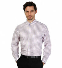 Brooks Brothers - Camisa slim fit color blanco con cuadros Hombre chico