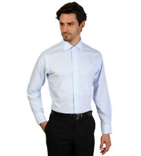 Brooks Brothers - Camisa slim fit color celeste y blanco a finas rayas