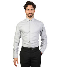 Brooks Brothers - Camisa slim fit color gris y blanco con cuadros Hombre chico