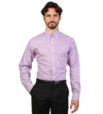 Brooks Brothers - Camisa slim fit color morado y blanco a cuadros Hombre chico