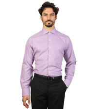 Brooks Brothers - Camisa slim fit color morado y blanco con cuadros Hombre chico