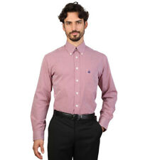 Brooks Brothers - Camisa slim fit color rojo y blanco a cuadros Hombre chico