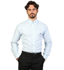 Brooks Brothers - Camisa slim fit color blanco con rayas azules