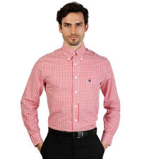 Brooks Brothers - Camisa slim fit color blanco y rojo a cuadros Hombre chico