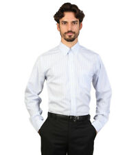 Brooks Brothers - Camisa slim fit color blanco con finas rayas celestes Hombr...