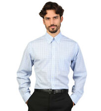 Brooks Brothers - Camisa slim fit color azul claro con cuadros Hombre chico
