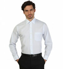 Brooks Brothers - Camisa slim fit color blanco con rayas celestes Hombre chico