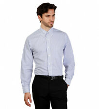 Brooks Brothers - Camisa slim fit color blanco con rayas azules Hombre chico