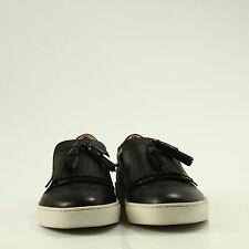 SLIP ON DONNA SANTONI CON NAPPINE PELLE NERO - E7BF