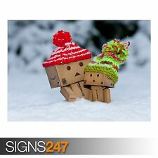 DANBO IS SCARED BY SO MUCH SNOW (AD414) FUNNY POSTER - Poster Print Art A1 A2 A3