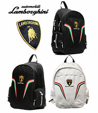 MOCHILA AUTOMOBILI LAMBORGHINI SQUADRA CORSE - WHITE OR BLACK BACKPACK