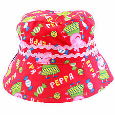Official Licensed Girls Peppa Pig Pink All Over Design Bucket Hat Age 1-6 Years