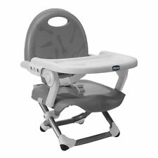 Chicco Pocket Snack Booster Seat Portable Highchair Baby Travel  Feeding Silver