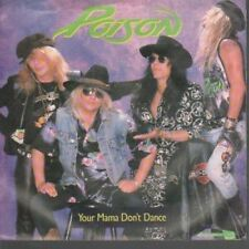 """POISON Your Mama Don't Dance 7"""" VINYL US Enigma 1988 B/W Look What The Cat"""