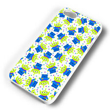 TOY STORY ALIEN PATTERN WHITE RUBBER PHONE CASE COVER FITS IPHONE (#WR)