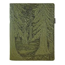 Forest Leather Composition Notebook Cover fern-green 8.25x10.25 Oberon Design