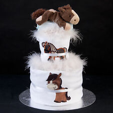 My First Horse Unisex Baby Shower Gift Set Present Nappy Diaper Cake Mum To Be