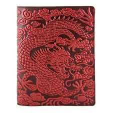 Cloud Dragon Leather Composition Notebook Cover red 8.25x10.25 Oberon Design