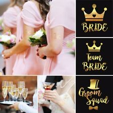 Team Bride Tribe Gold Temporary Transfer Tattoo Hen Do Party Weekend Wristband