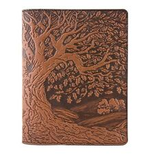 Tree of Life Leather Composition Notebook Cover saddle 8.25x10.25 Oberon Design