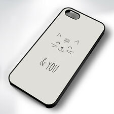 MEOW AND ME CAT QUOTE RUBBER PHONE CASE COVER FITS IPHONE 4 5 6 7 (#BR)