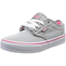 Vans Atwood Youth Rosa Gris Textil Entrenadores Zapatos