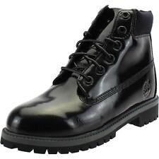 Timberland 6 Inch Classic Boot Youth Shine Noir Brevet Cheville Bottes