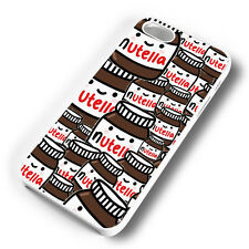 NUTELLA CHOCOLATE COLLAGE WHITE PHONE CASE COVER FITS IPHONE 4 5 6 7 (#WH)