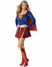 Ladies Sexy Supergirl Superhero DC Comic Book Fancy Dress Costume