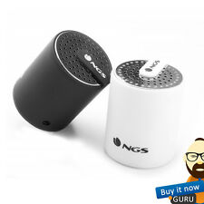 NGS ROLLER MINI RECHARGEABLE BLUETOOTH SPEAKER with BUILT-IN MIC - BLACK / WHITE