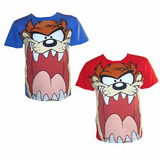 Boys Official Looney Tunes Taz T Shirt 100% Cotton Short Sleeved