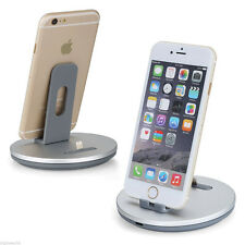 2 in 1 Aluminum Build Stand Charging Docking Station for Android Samsung iPhone