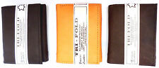 Tri fold leather wallet Trifold three fold 6 slots id window Handcrafted