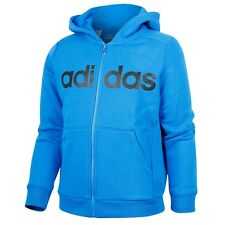 adidas boys blue zip up hoody. Tracksuit top. Hoodie. Sweat top. Various sizes!
