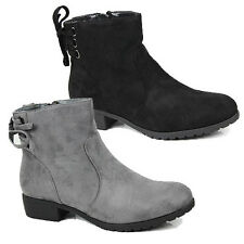 WOMENS LADIES CASUAL LOW BLOCK HEEL CHELSEA STYLE ANKLE BOOTS SHOES SIZE 3-8