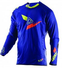 Leatt Jersey GPX 5.5 Ultraweld Azul Lima Camiseta Kit Motocross MX Enduro