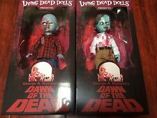 NEW 2017 LOT FLYBOY & PLAID SHIRT ZOMBIE Dawn of the Dead Living Dead Dolls Set