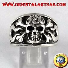 Anello in argento 925  teschio pirata